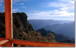 Copper Canyon Rail Journeys: View from the Posada Mirador in Divisadero