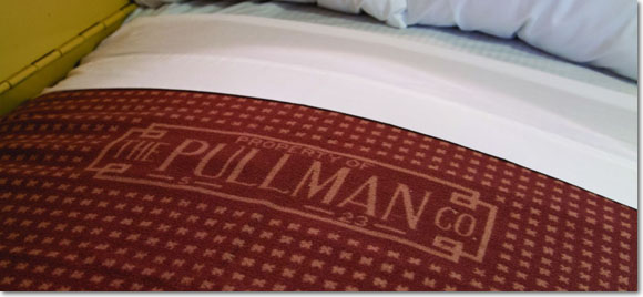 Pullman logo on blanket