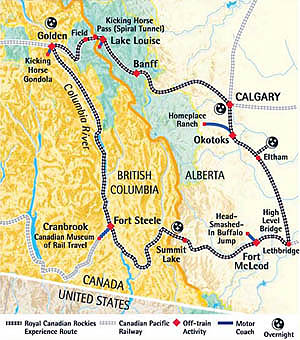 Royal Canadian Rockies Experience - Map