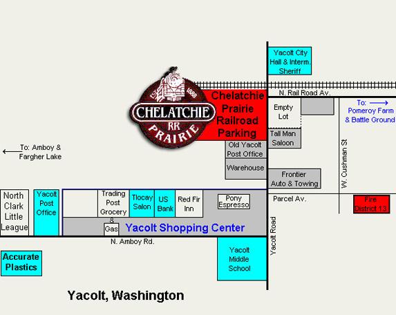 Chelatchie Prairie Railroad Route Map